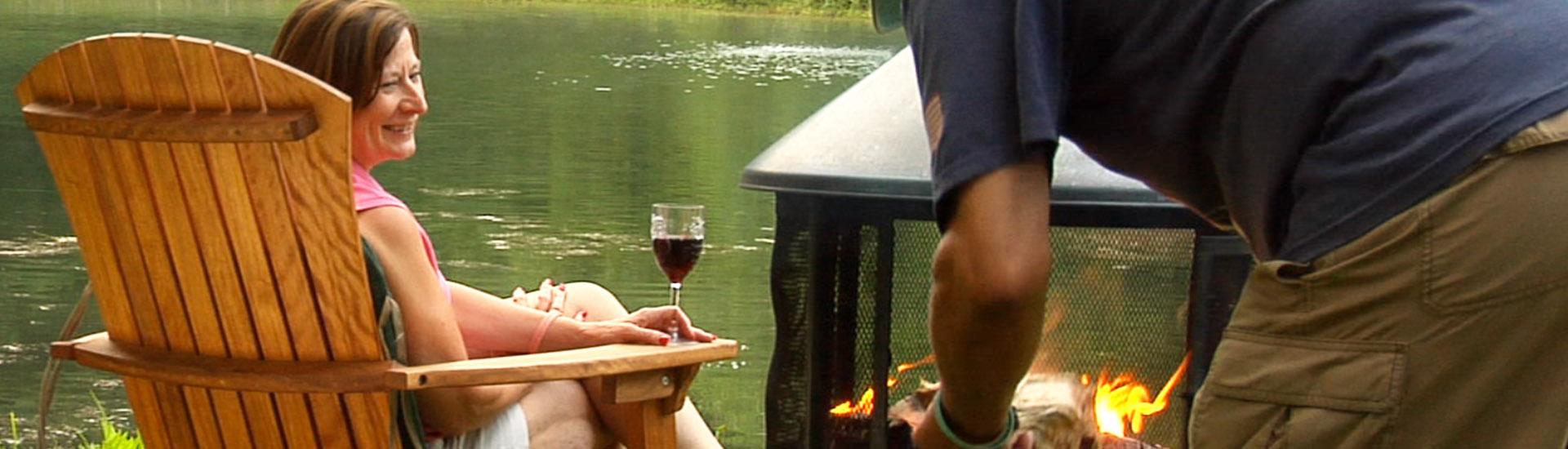 Adulte et lac george rv park